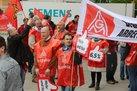 Warnstreik bei Siemens