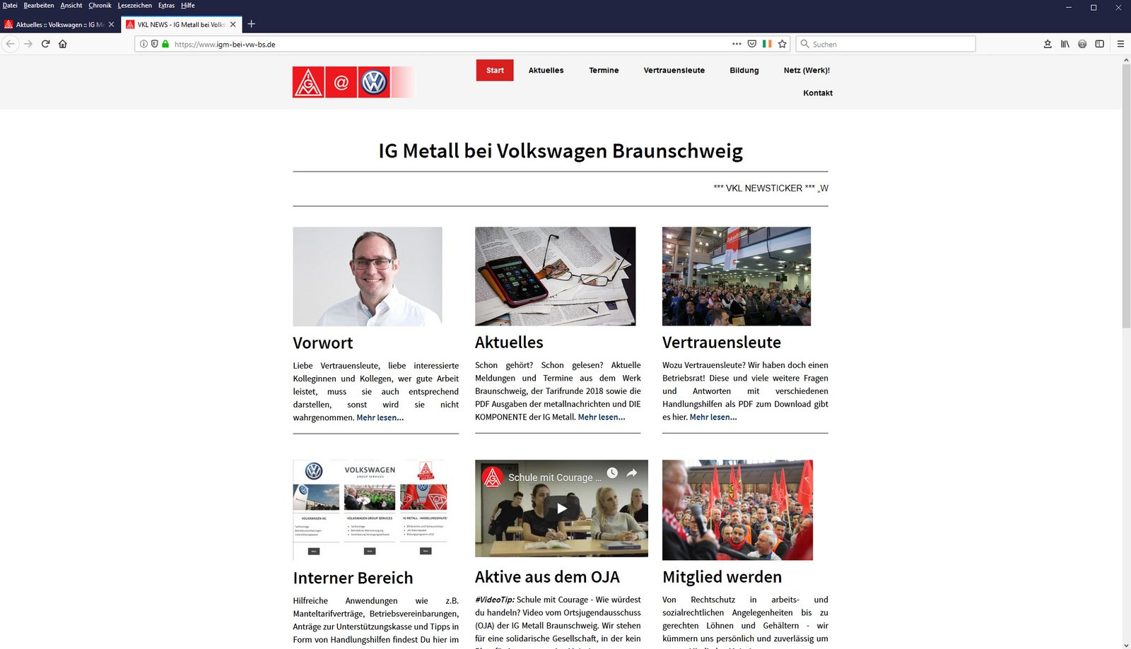 Zur eigenständigen Website der Vertrauensleute bei Volkswagen Braunschweig